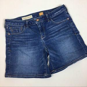 Pilcro and the letterpress Anthro denim shorts 27